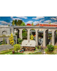 Faller H0 Viaduct set, 2-sporig, gebogen 120466