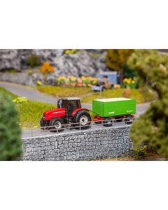 Faller MF Tractor met haksel-aanhanger (WIKING) 161588