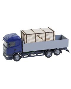 Faller Car System Vrachtwagen Scania R 13 HL Laadbak met houten kist (HERPA) 161597