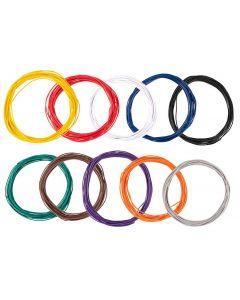 Faller draad assortiment 0,04 mm², 10 kleuren á 10 m 163780