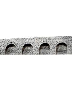 Faller Decorplaat Arcaden, Gehouwen natuursteen 170839