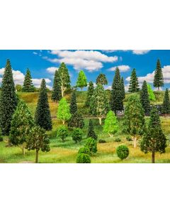 Faller H0 50 Gemengd bos, gesorteerd 181536