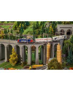 Faller Viaduct set, 2-sporig, gebogen 222598