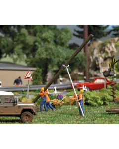 Busch H0 Elektriciteitsmedewerkers met mast 7835