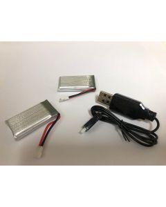 Batterij met oplader (eigen merk) t.b.h.v Faller containerkraan