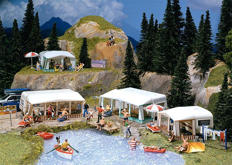 Faller Camping caravan set 130503