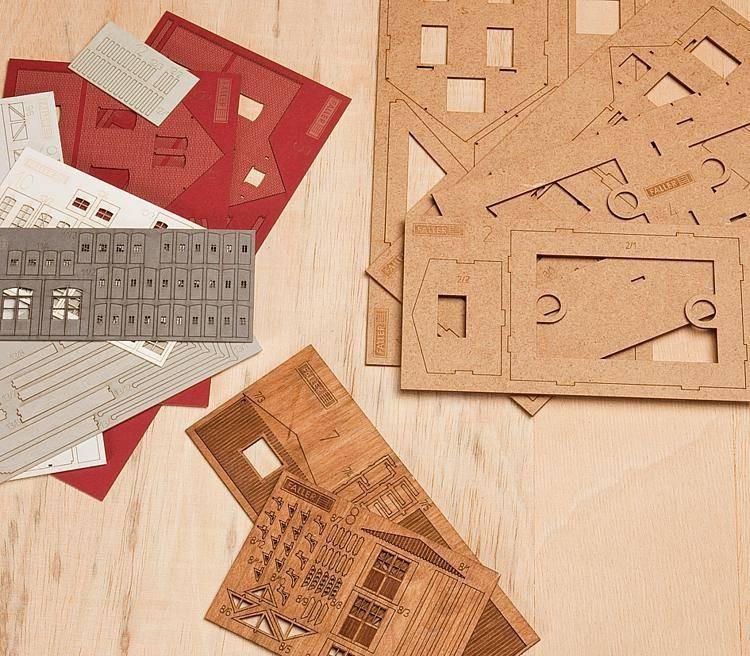 Faller lasercut bouwpakketten