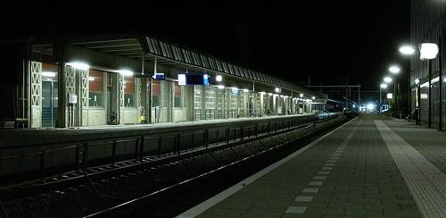 Perronverlichting in het Nederlandse voorbeeld